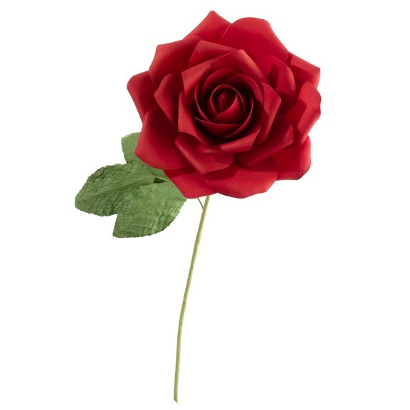 "Lillian Rose 10"" Faux Red Stemmed Rose Decoration"