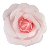 "Lillian Rose 8"" Faux Pink Rose Decoration (Stemless)"
