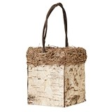 Lillian Rose Square Birch Flower Basket/Centerpiece