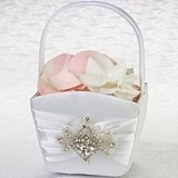Lillian Rose Elegant Jeweled Motif Flower Basket