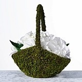 Lillian Rose Moss-Covered Flower Basket