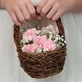 Lillian Rose Rattan Flower Basket
