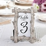 Lillian Rose Rustic Birch Tree Branches Frame/Table Number Holder