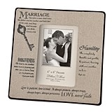 """Keys to Marriage"" Christian Verses Photo Frame"