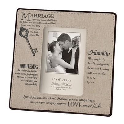 """Keys to Marriage"" Christian Verses Photo Frame"