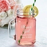 Lillian Rose Country Wedding Party Personalized Mason Jar Mug