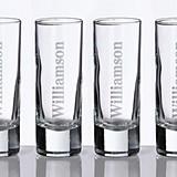 Lillian Rose Personalized Large Shot Glasses (Set of 4)