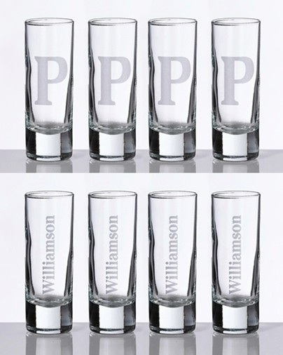 Lillian Rose Personalized Large Shot Glasses (Set of 4)