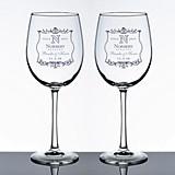 Personalized Vineyard Motif Wine Glasses (Set of 2)