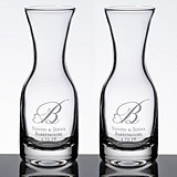 Personalized Wine Carafes with Heart Monogram (Set of 2)