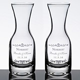 Personalized Vineyard Motif Wine Carafes (Set of 2)