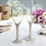 Lillian Rose Birch-Tree-Bark Stemmed Wine Glasses (Set of 2)