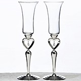 Lillian Rose Dangling Jewel Heart Toasting Glasses (Set of 2)