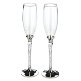 Lillian Rose Detailed Retro Pattern Toasting Glasses (Set of 2)