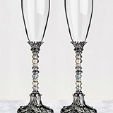 Lillian Rose Beautiful Beaded Toasting Glasses (Set of 2)