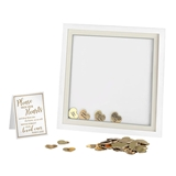 Gold Foil Cardboard Hearts for Guest Signing Frame (Set of 48)