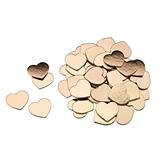 Rose Gold Foil Cardboard Hearts for Guest Signing Frame (Set of 48)