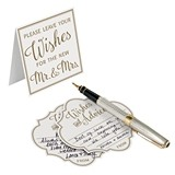 Lillian Rose Ivory 'Leave Wishes for the New Mr. & Mrs.' Advice Cards