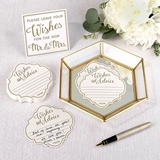 Lillian Rose Guest Book Alternative with Wish Cards and Mirrored Tray