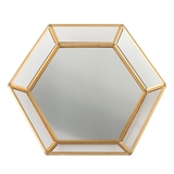 Lillian Rose Mirrored Glass Tray with Gold-Colored-Metal Sides