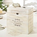 Personalized Scrolls Motif Wooden Key Card Well Wishes Box