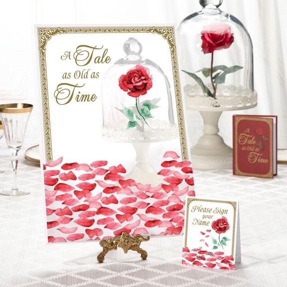 Lillian Rose Fairy Tale Rose Petal Motif Signing Canvas