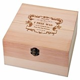 """I Thee Wed"" Design Wooden Well Wishes Card Box"