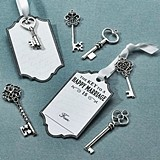 Lillian Rose Silver Key Tags for Guest Signing (Set of 24)