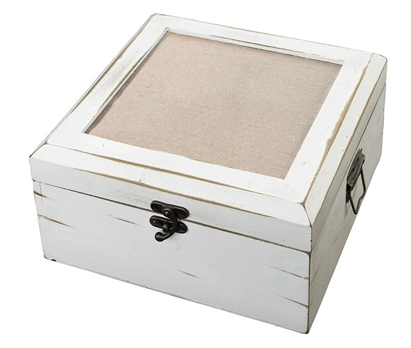 Lillian Rose Antique White Wedding Wishes Card Box (Blank)