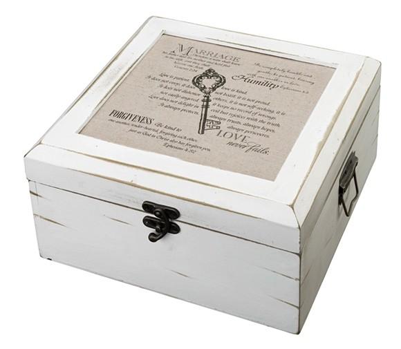 Lillian Rose Christian Design Antique White Card Box