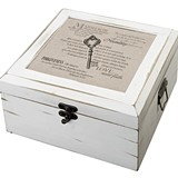 Lillian Rose Christian Design Antique White Card Box
