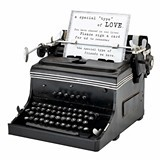 Lillian Rose Vintage-Look Year 1945 Mini Typewriter Replica