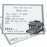 Keys to a Happy Marriage Typewriter Wedding Wishes Cards (Set of 48)