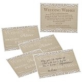 Lillian Rose Country Lace Guest Wedding Wishes Cards (Set of 48)