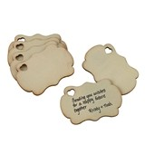 Wooden Signing Tags as a Guest Book Alternative (Set of 36)