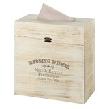 "Lillian Rose ""Wedding Wishes"" Rustic Wooden Card Box"