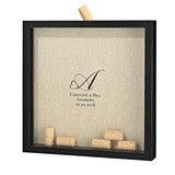 Lillian Rose Shadow Box Frame for Signing Corks with Heart Monogram