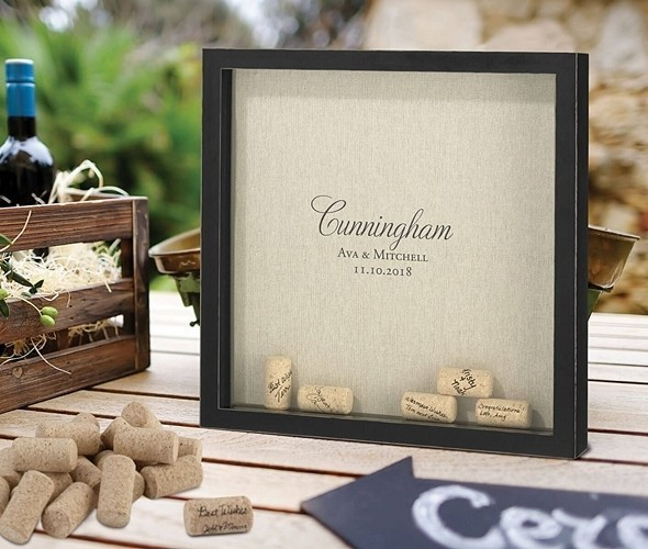 Lillian Rose Personalizable Shadow Box Frame for Signing Corks
