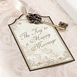 Vintage-Inspired Gold Key Tags for Guest Signing (Set of 24)