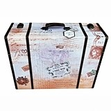 "Lillian Rose ""True Love"" Paris-Themed Suitcase Card Box"
