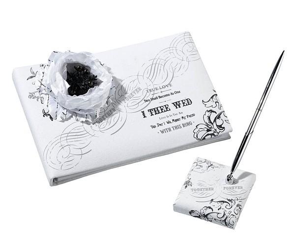 """""""Together Forever"""" True Love Guest Book & Pen Set"""