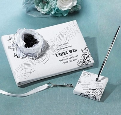 """Together Forever"" True Love Guest Book & Pen Set"