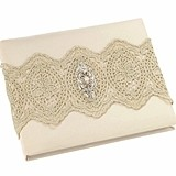Lillian Rose Vintage Gold Lace Guest Book
