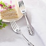 Lillian Rose Mr. and Mrs. Silver-Plated Forks by Lillian Rose
