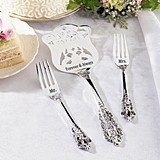 Lillian Rose Mr. and Mrs. Silver-Plated Cake Server and Forks Set