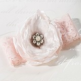 Blush Pink Garter by Lillian Rose