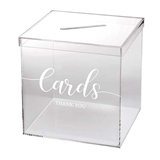 Lillian Rose Clear Acrylic 'Thank You' Card Box with Slot on Lid