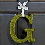 Moss-Covered Monogram Letter by Lillian Rose