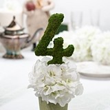 Moss-Covered Wedding Décor Table Number by Lillian Rose