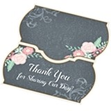 Lillian Rose Chalkboard & Floral Motif Place Cards (Set of 24)